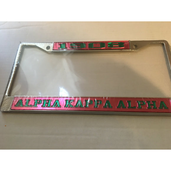 Alpha Kappa Alpha 1908 License Frame (Pink)