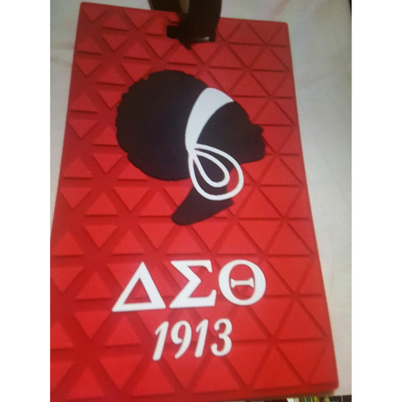 Delta Sigma Theta  Natural Lady Luggage Tag