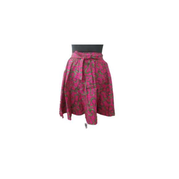 Alpha Kappa Alpha Inspired Skirt: Pink and Green Pattern  Skirt V