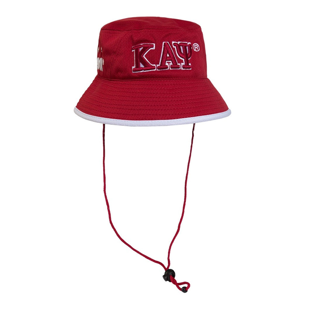Kappa Alpha Psi Bucket Hat with Adjustable Draw Cord