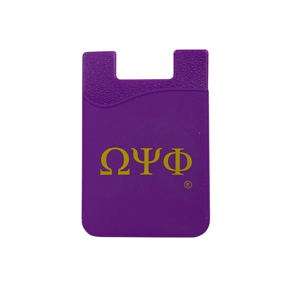 Omega Psi Phi  Silicone Card Holders