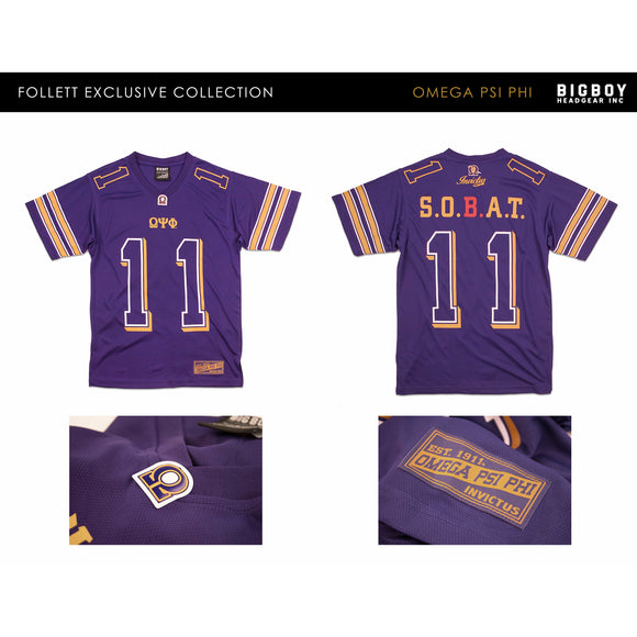 Omega Psi Phi Jersey Tee SIZE Large