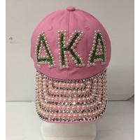 Alpha Kappa Alpha Pearlized Greek Letter Cap