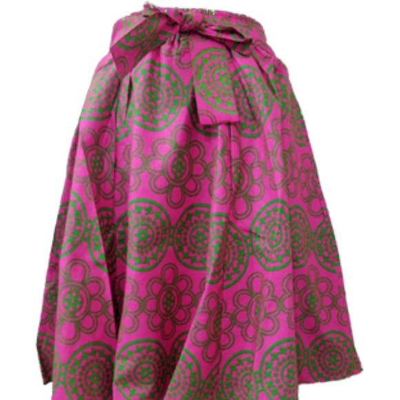 Alpha Kappa Alpha Inspired Skirt: Pink and Green Circle  Skirt