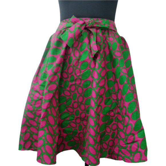 Alpha Kappa Alpha Inspired Skirt: Pink and Green  Skirt IV