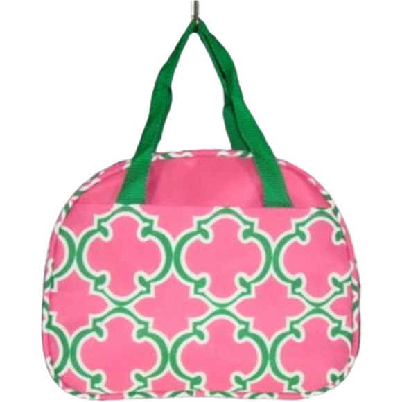 Alpha Kappa Alpha Inspired: Pink & Green Lunch Bag
