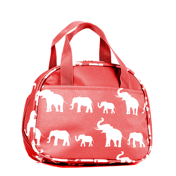 Delta Sigma Theta Inspired: Red & White Elephant Lunch Bag