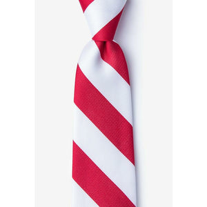 Kappa Alpha Psi Inspired: Red & White Neck Tie