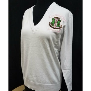 White Alpha Kappa Alpha Pullover Sweater