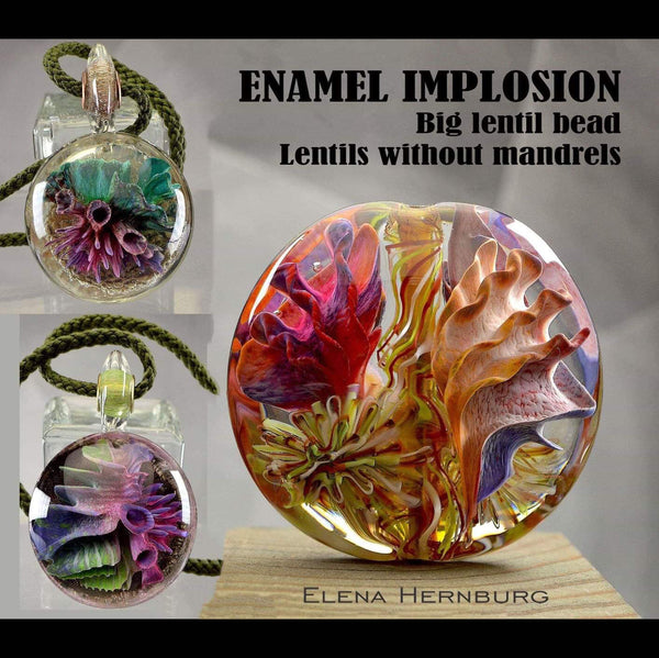 Enamel Implosions - Big Lentil Beads w/out Mandrels with Elena Hernburg