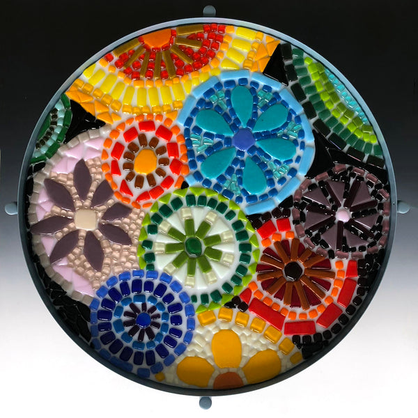 Fused Glass Mosaic Table