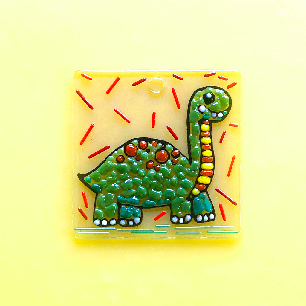 TO-GO KIT: Glass By Number Kids - Dinosaur