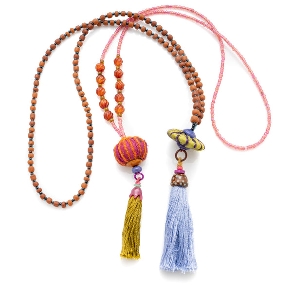 Fiber Elements for Jewelry Design: Tassels, PomPoms and Silk Beads with Stephanie Sersich - ABC