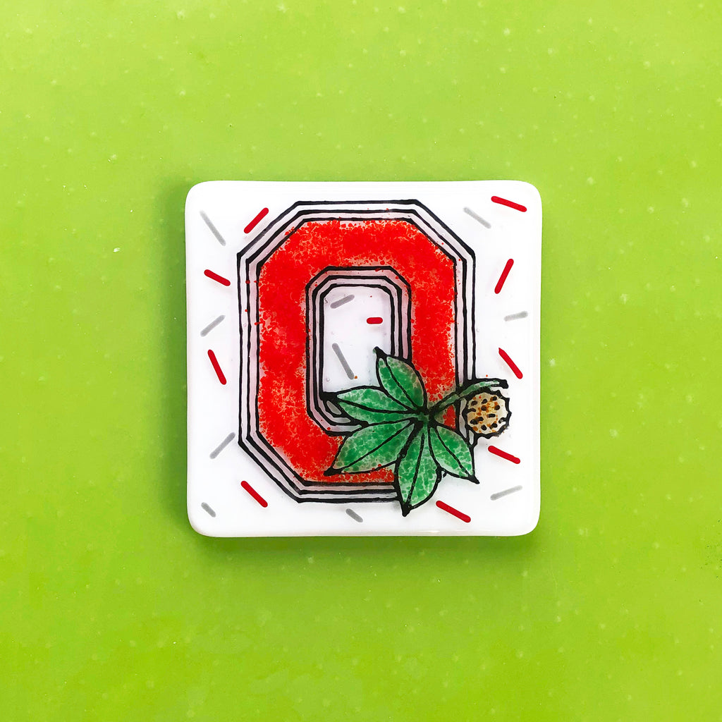 TO-GO KIT: Glass By Number: Buckeye Coaster