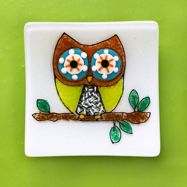 TO-GO KIT: Glass By Number - Owl Plate