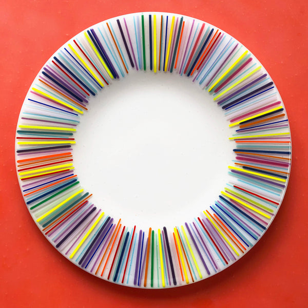 TO-GO KIT: Large Rainbow Plate