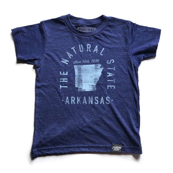 State of Arkansas Motto Youth Shirt - Parkway Prints
