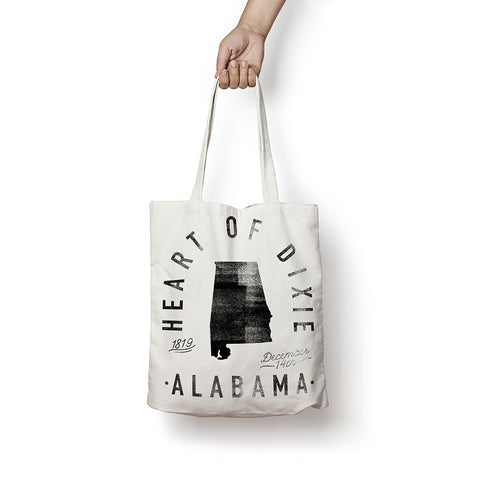 State of Alabama - Motto - Tote Bag