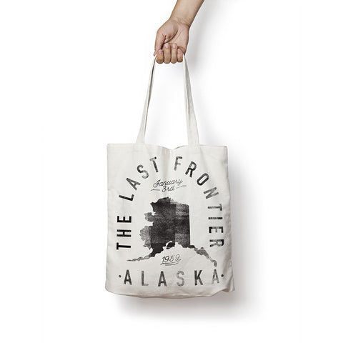 State of Alaska - Motto - Tote Bag