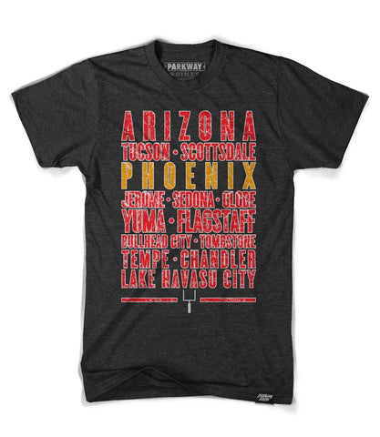Phoenix Arizona - Third and Long - Tri-Black Shirt - Unisex - Parkway Prints