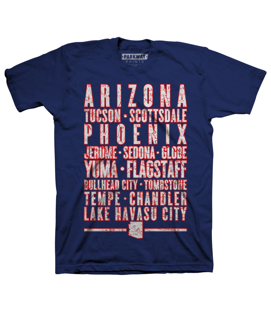 Arizona Varsity Shirt - Navy - Unisex - Parkway Prints
