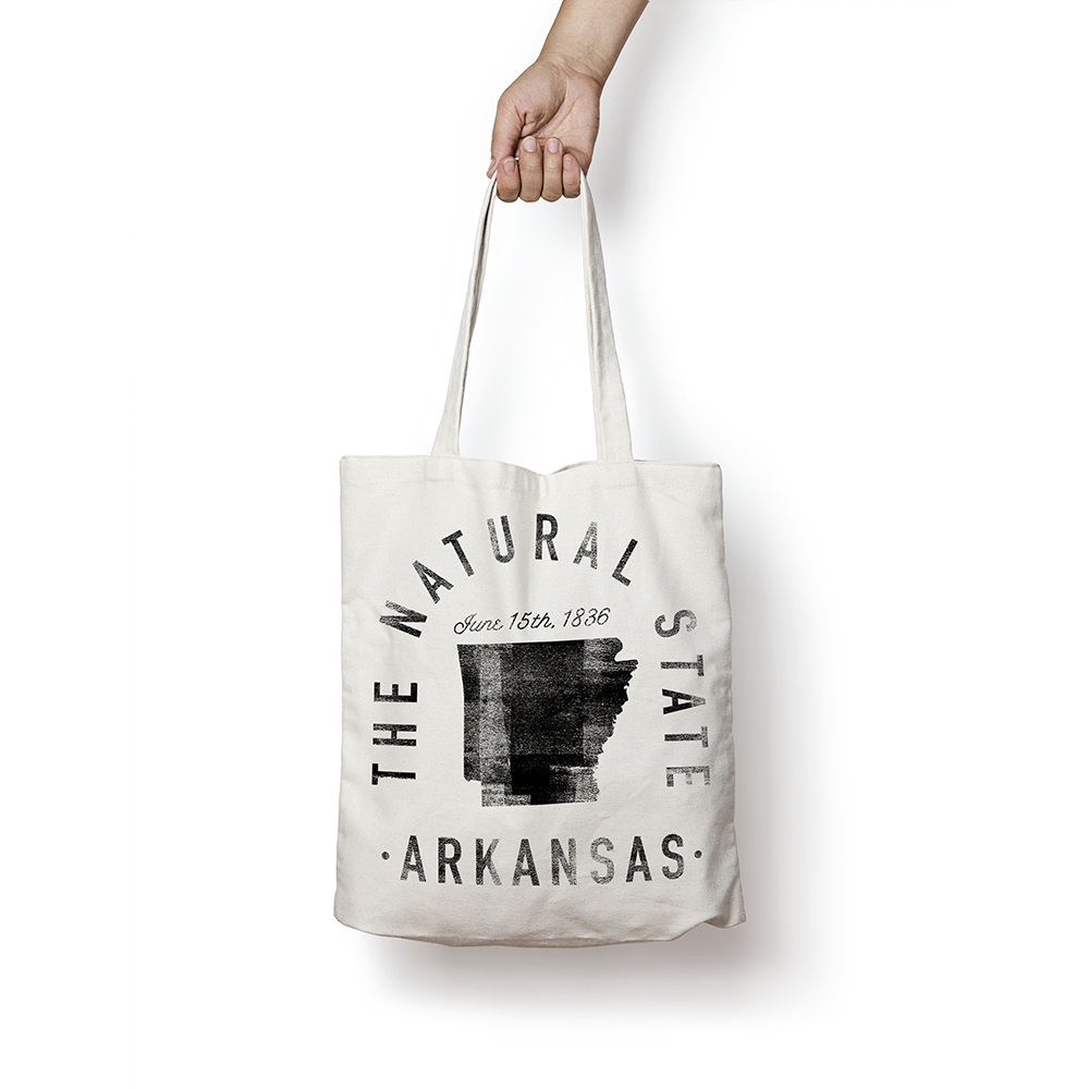 State of Arkansas - Motto - Tote Bag