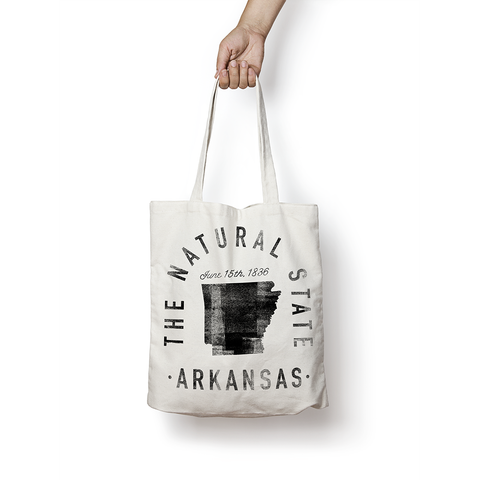 State of Arkansas - Motto - Tote Bag - Parkway Prints