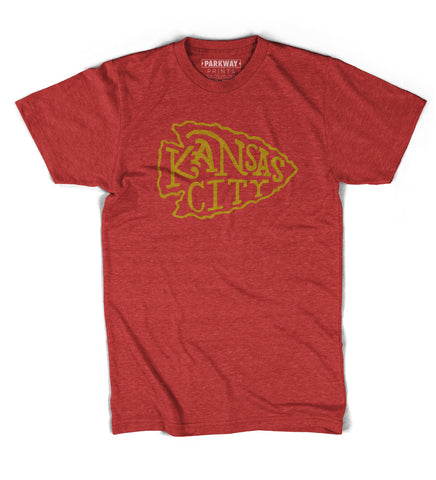 KC Arrowhead - Red Polyester Cotton Blend - Unisex - Parkway Prints