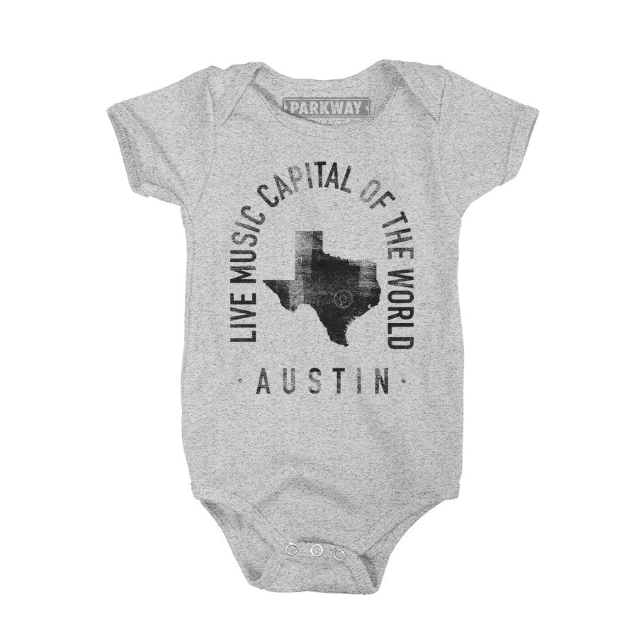 Austin Texas - City Motto Onesie - Unisex - Parkway Prints