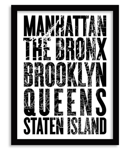 Five Boroughs Poster - 18 x 24 - Parkway Prints