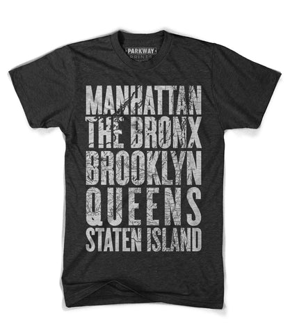 Five Boroughs Shirt - Parkway Prints