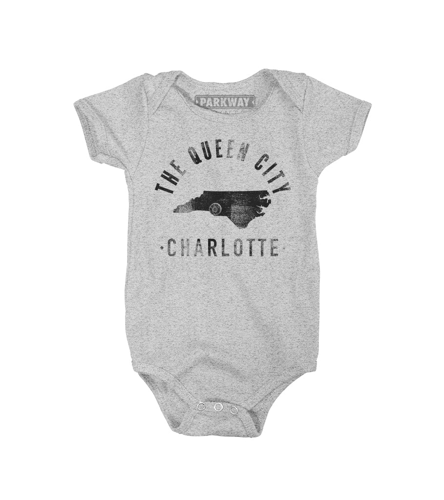 Charlotte - North Carolina - City Motto Onesie - Unisex - Parkway Prints