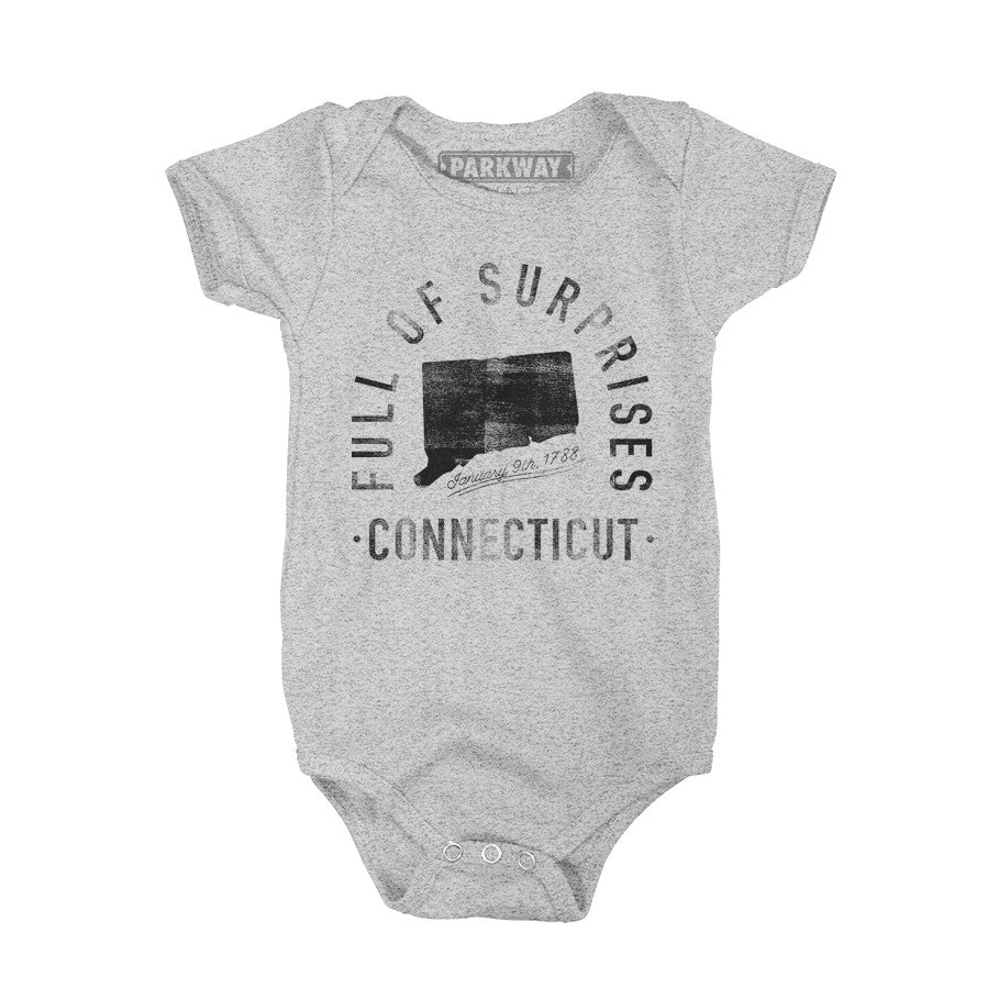 Connecticut - State Motto Onesie - Unisex - Parkway Prints