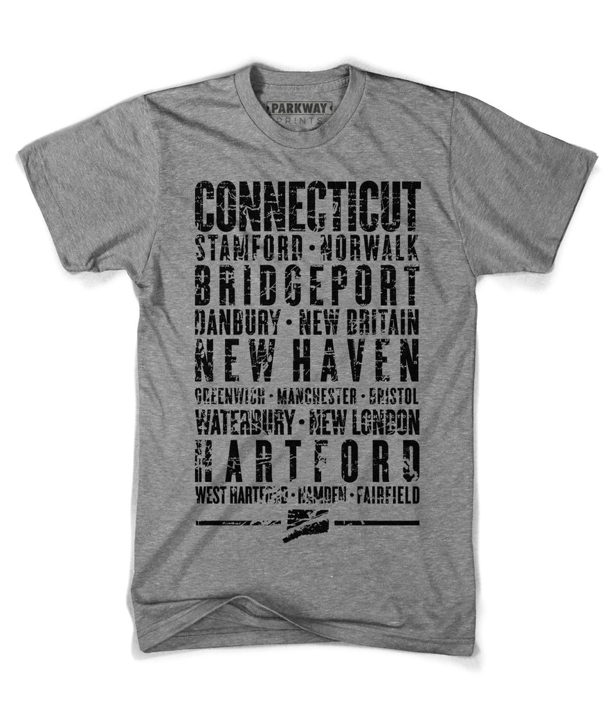 Connecticut State Shirt - Unisex - Parkway Prints