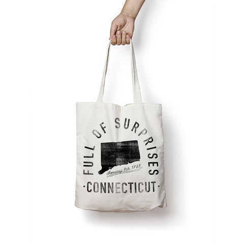 State of Connecticut - Motto - Tote Bag