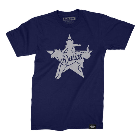 Dallas Icon Shirt - Navy - Unisex - Parkway Prints