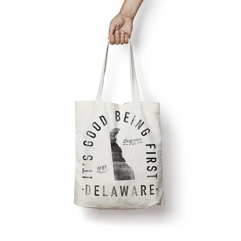 State of Delaware - Motto - Tote Bag