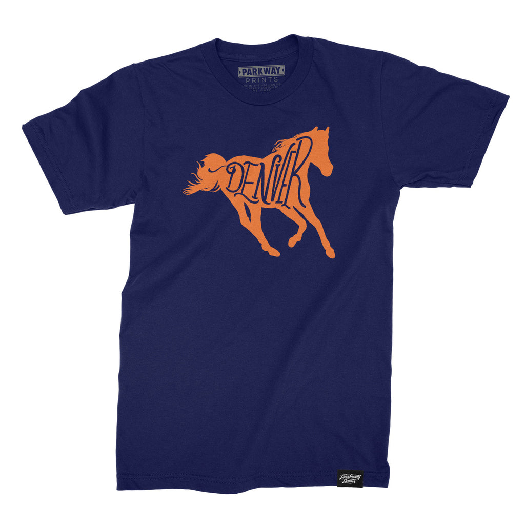 Denver Bucking - Navy Unisex Shirt - Parkway Prints