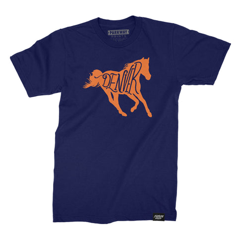 Denver Bucking - Navy Unisex Shirt