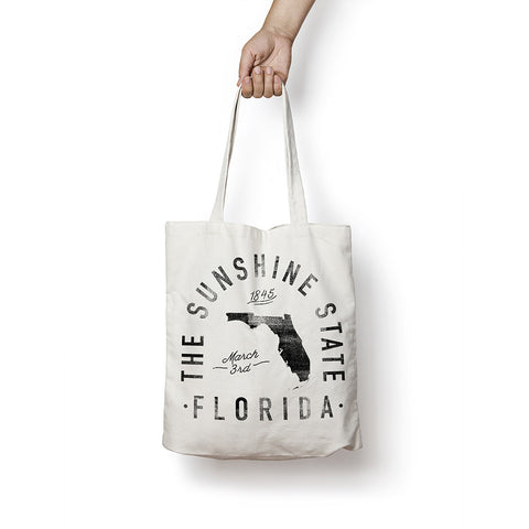 State of Florida - Motto - Tote Bag
