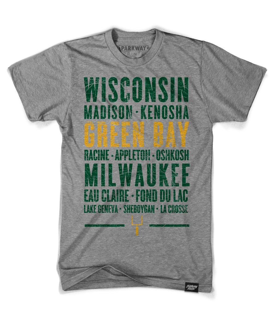 Green Bay Wisconsin - Third and Long - Heather Grey Shirt - Unisex - Parkway Prints