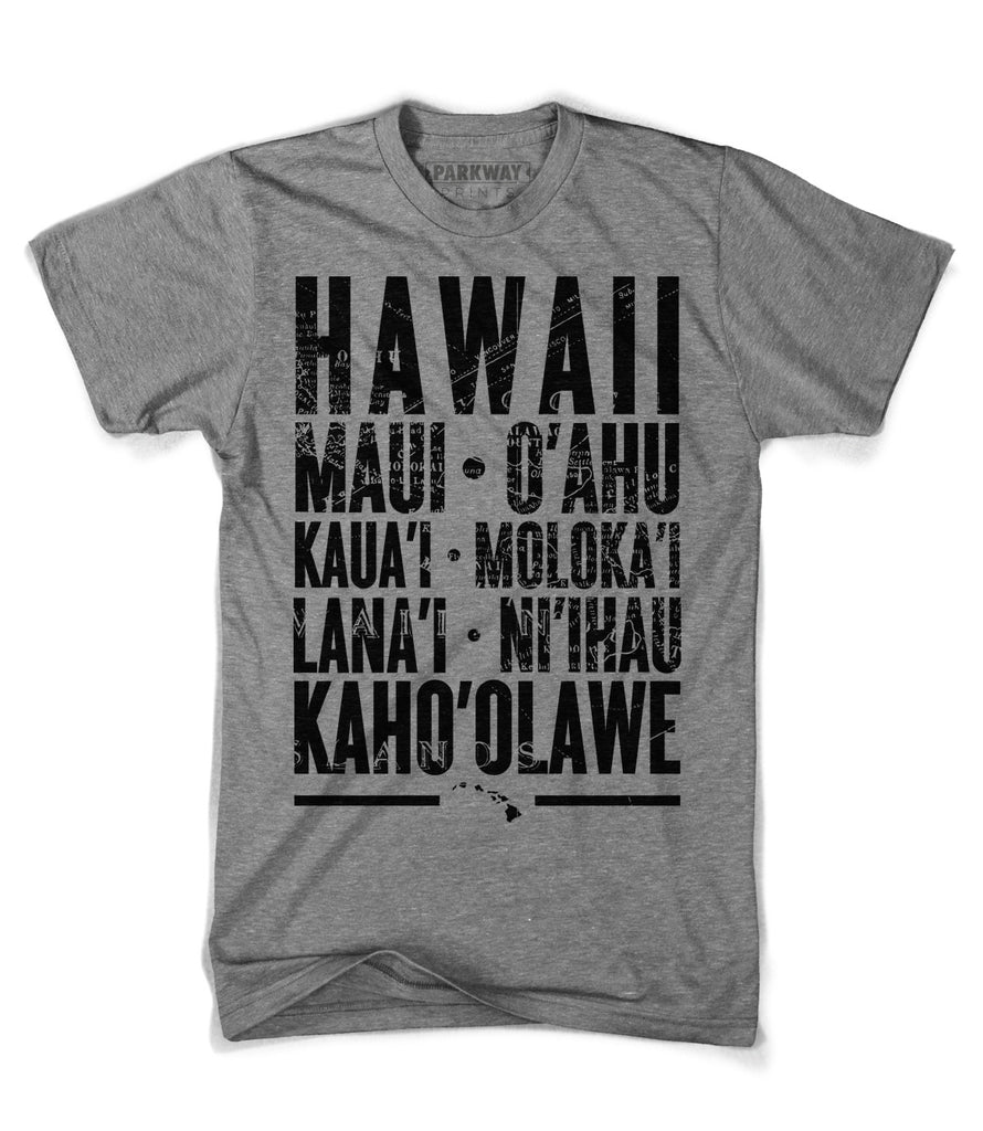 Hawaiian Islands Shirt - Unisex - Parkway Prints
