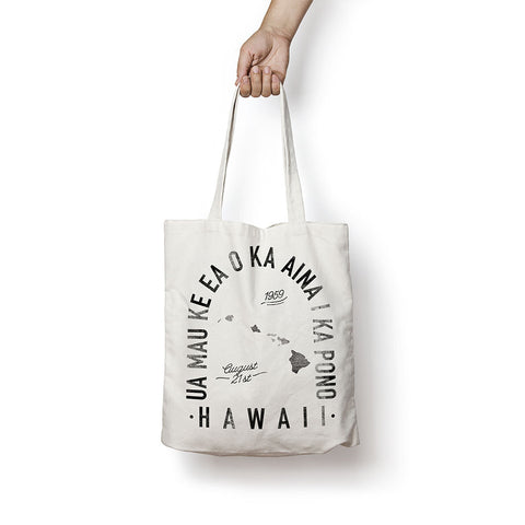 State of Hawaii - Motto - Tote Bag