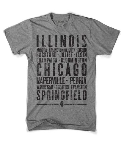 Illinois State Shirt - Unisex - Parkway Prints