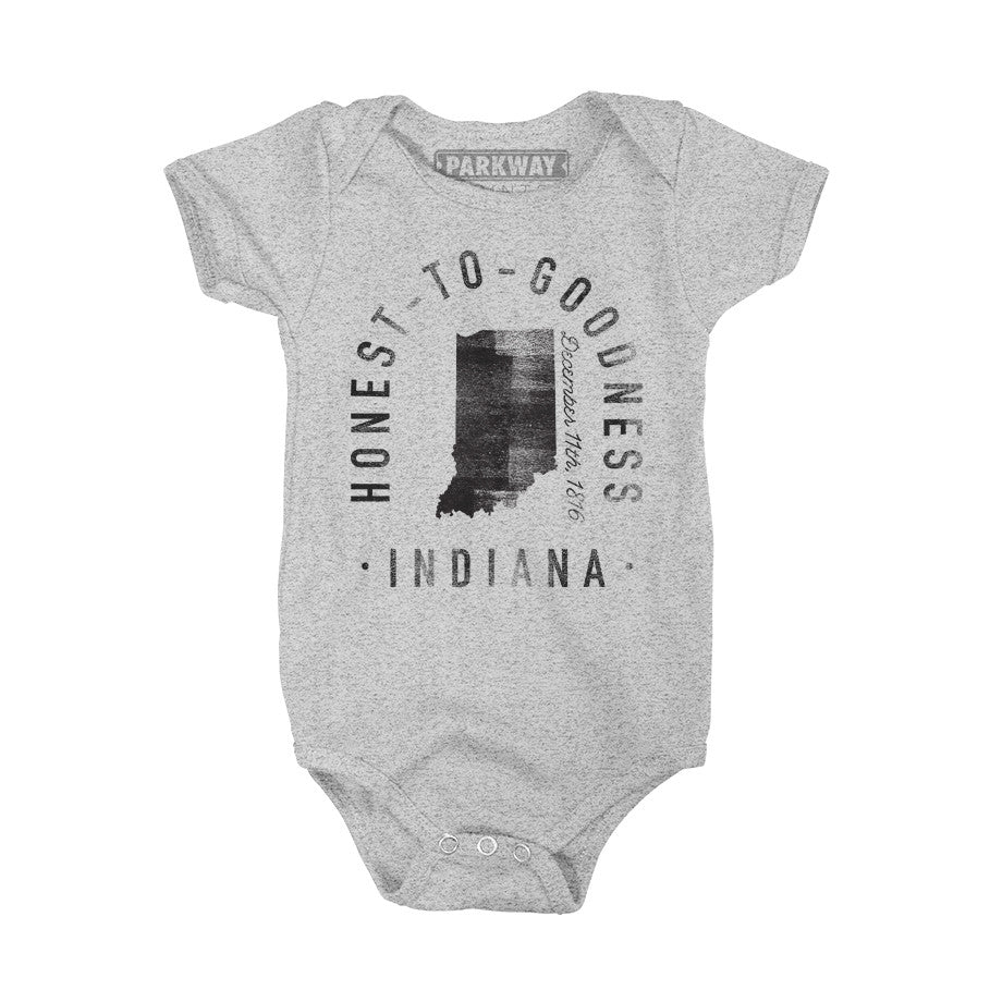 Indiana - State Motto Onesie - Unisex - Parkway Prints