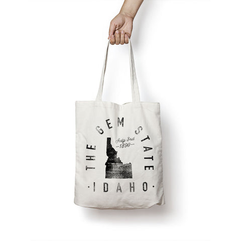 State of Idaho - Motto - Tote Bag