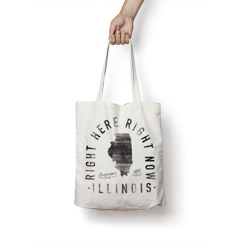 State of Illinois - Motto - Tote Bag - Parkway Prints