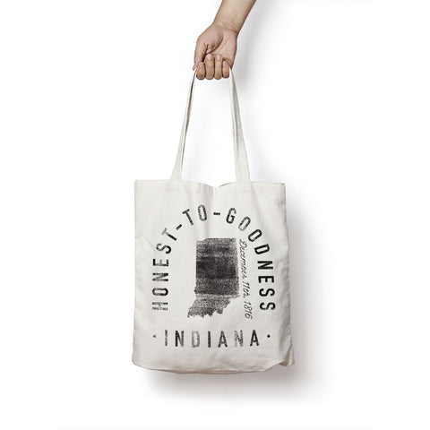 State of Indiana - Motto - Tote Bag