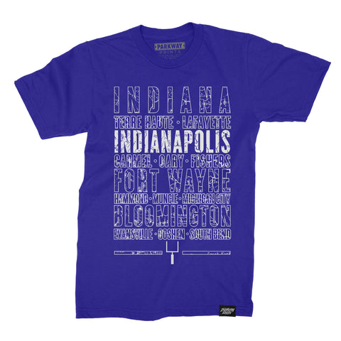 Indianapolis Indiana - Third and Long - Blue Shirt - Unisex - Parkway Prints