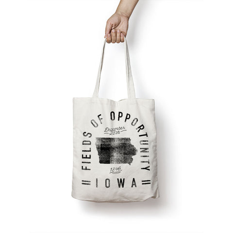 State of Iowa - Motto - Tote Bag - Parkway Prints
